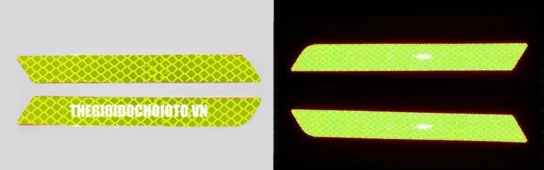 Decal Tem dán phản quang ô tô cảnh báo đuôi xe loại cao cấp 3M Kim cương