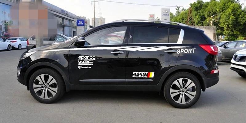 Dải tem decal sport dán trang trí ô tô suv