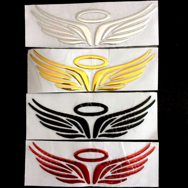 Decal 3d đôi cánh thiên thần nhựa mạ