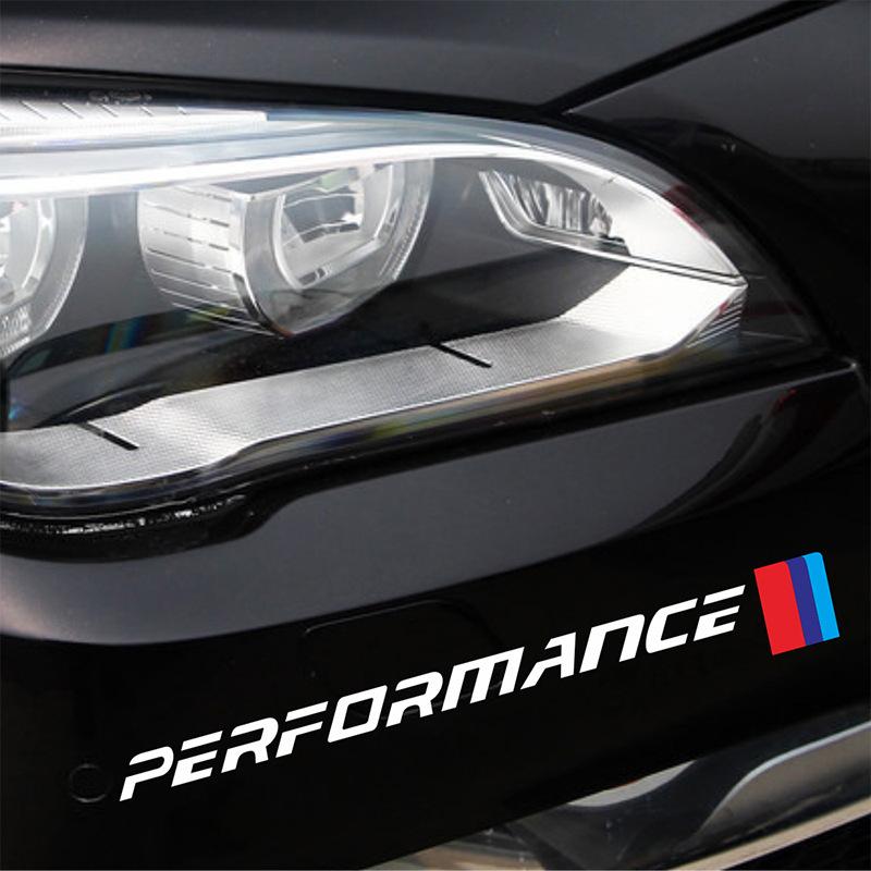 Decal tem Performance dán trang trí đầu đuôi xe ô tô