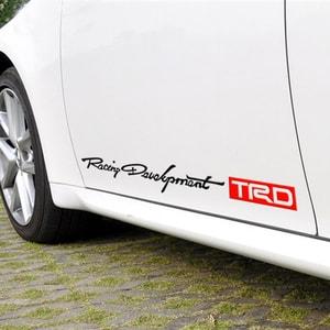 Dải tem Racing development TRD dán trang trí 2 sườn xe ô tô ms-331