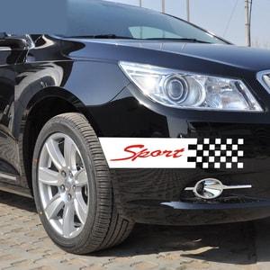 Decal tem Sport Caro dán trang trí ô tô ms-173