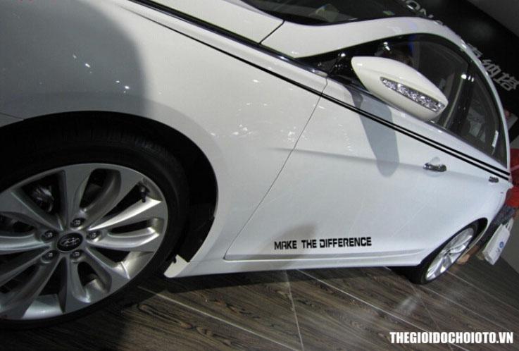 Decal tem dán trang trí sườn xe ô tô Make The Diffirence