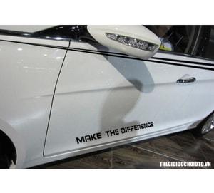Decal tem dán trang trí sườn xe ô tô Make The Diffirence MS-97