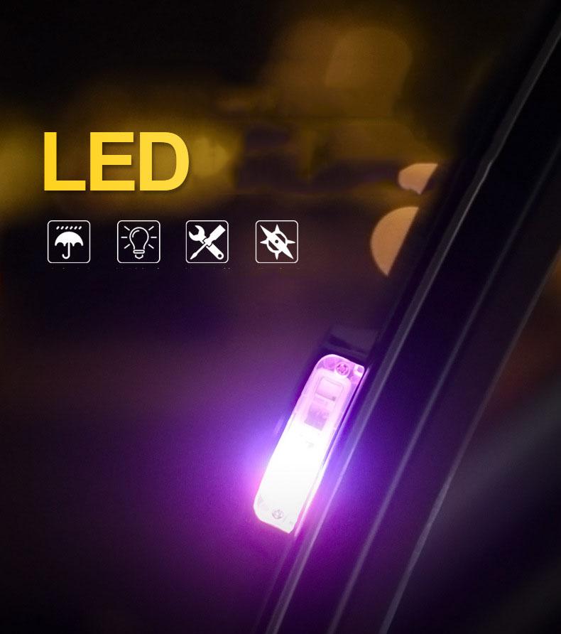 Đèn led cảnh báo dán cánh cửa xe ô tô ( mẫu 3 )