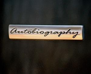 Logo chữ Autobiography dán trang trí xe ô tô MS-120