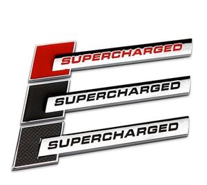 Logo chữ SUPERCHARGED dán trang trí xe ô tô MS-128