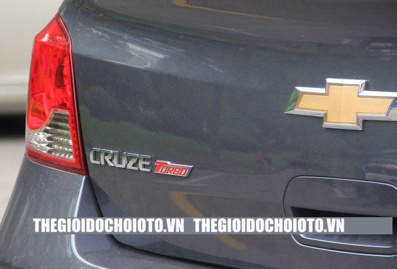 Logo chữ Turbo dán xe ô tô