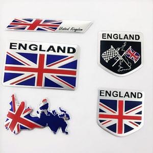 Logo kim loại cờ Anh dán xe ô tô MS-134