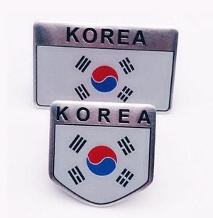 Logo kim loại cờ Hàn Quốc 3D dán xe ô tô MS-133