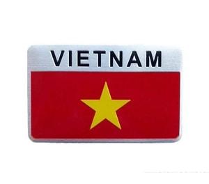 Logo kim loại cờ Việt Nam 3D dán xe ô tô MS-123