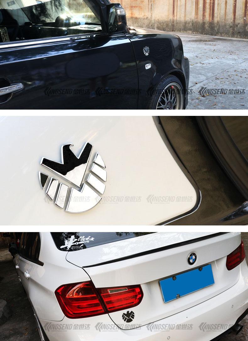 Logo đại bàng dán xe ô tô