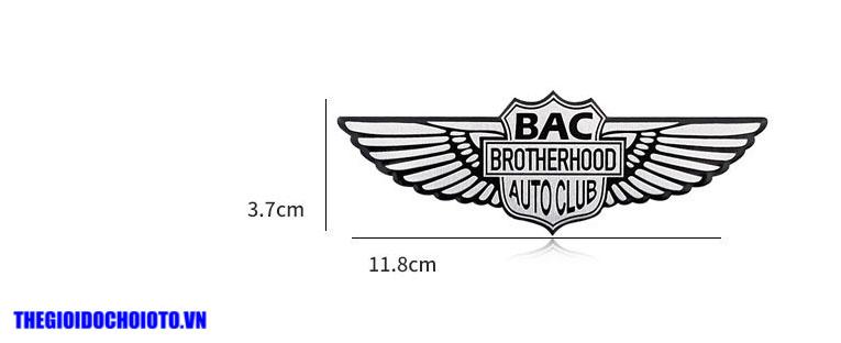 Logo đôi cánh thiên thần BAC BROTHERHOOD AUTO CLUP