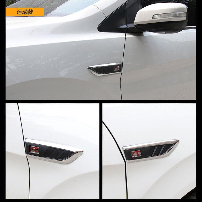 Mang cá giả hốc gió dán trang trí xe ô tô ( mẫu 2) ms-358