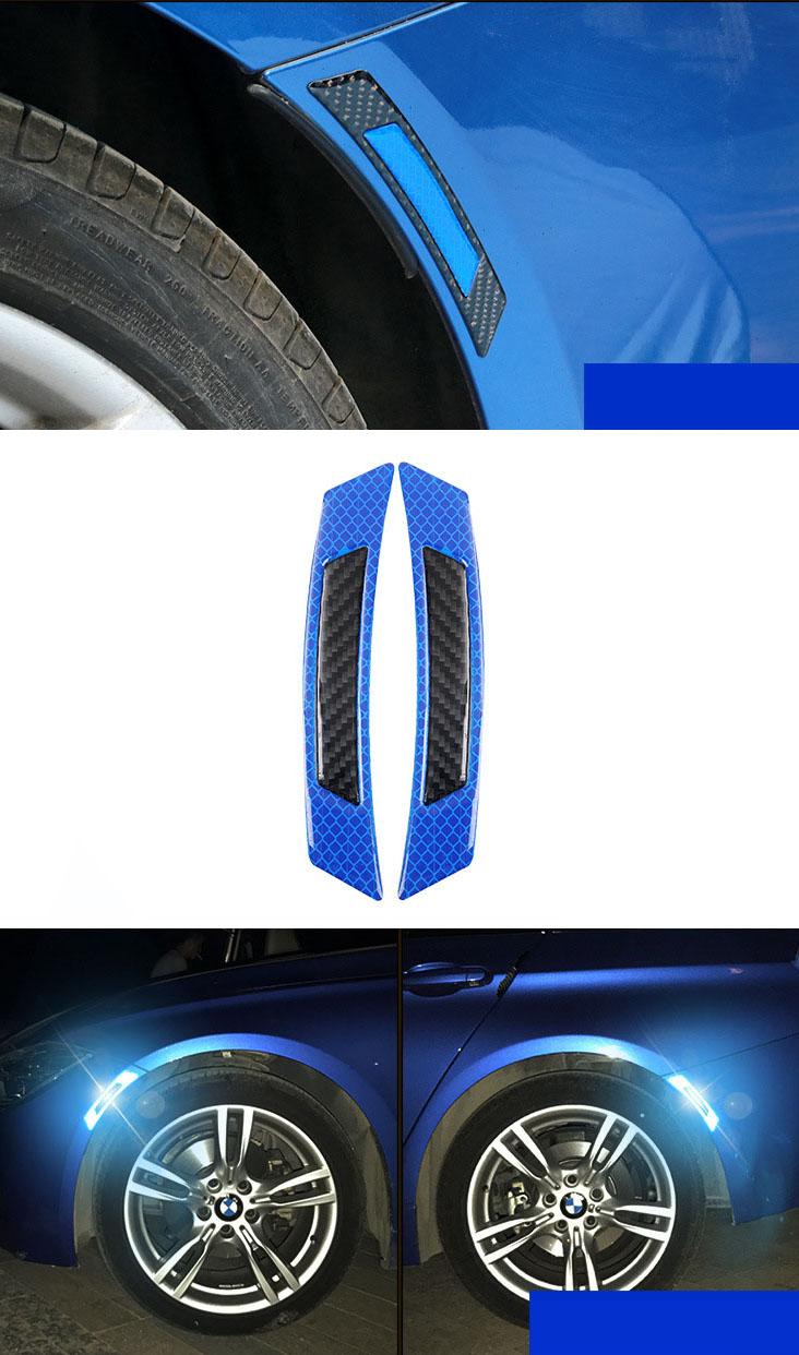 Miếng dán phản quang dán viền lông mày bánh xe ( mẫu 2 )