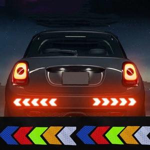 Miếng tem decal phản quang mũi tên dán xe ô tô ms-312