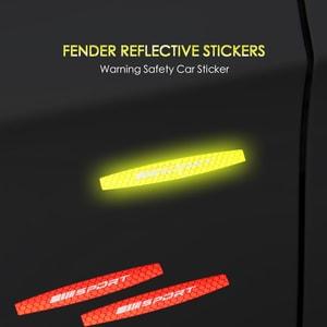 Miếng tem phản quang dán sườn xe ô tô trang trí cảnh báo (mẫu 2) ms-304