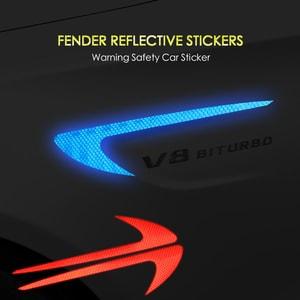 Miếng tem phản quang dán sườn xe ô tô trang trí cảnh báo (mẫu 3) ms-305