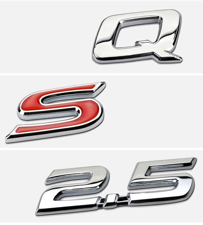 Tem 3d chữ 2.5 G, 2.5 Q, 2.5 S  dán xe ô tô ( mẫu 3 )