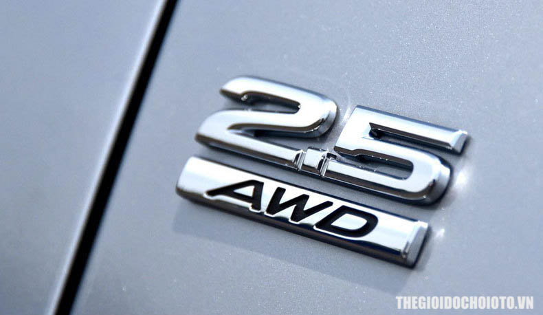 Tem 3d chữ AWD , chữ 2.5 dán xe ô tô ( mẫu 2 )