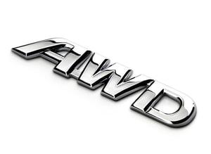 Tem 3d chữ AWD dán xe ô tô (mẫu 1) MS-89