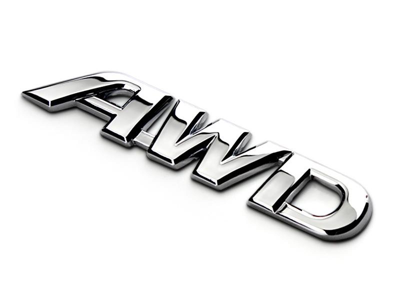 Tem 3d chữ AWD dán xe ô tô