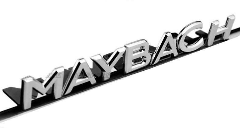 Tem Chữ 3d Maybach dán đuôi xe ô tô