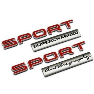 Tem 3d chữ sport đỏ phong cách Land Rover dán trang trí ô tô (mẫu 10) MS-86
