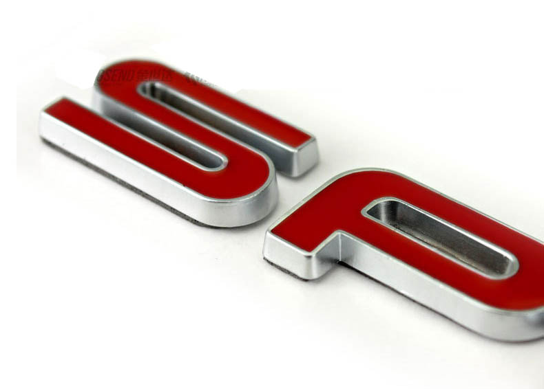 Tem 3d chữ sport đỏ phong cách Land Rover dán trang trí ô tô