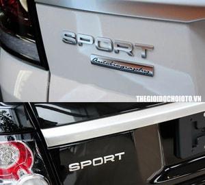 Tem 3d Chữ Sport phong cách Land Rover (mẫu 9) MS-69