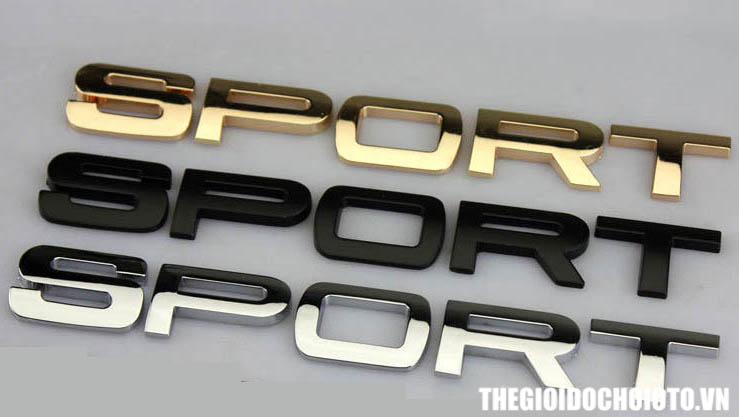 Tem 3d Chữ Sport phong cách Land Rover