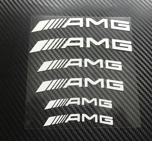 Tem AMG chịu nhiệt dán phanh xe Mercedes phản quang ms-165