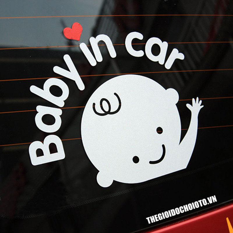 Decal tem baby in car (mẫu 1)