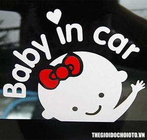 Decal tem baby in car (mẫu 2) MS-66