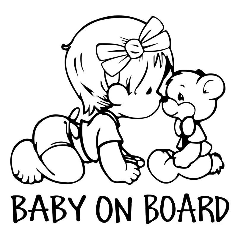 Tem dán baby on board (mẫu 2)