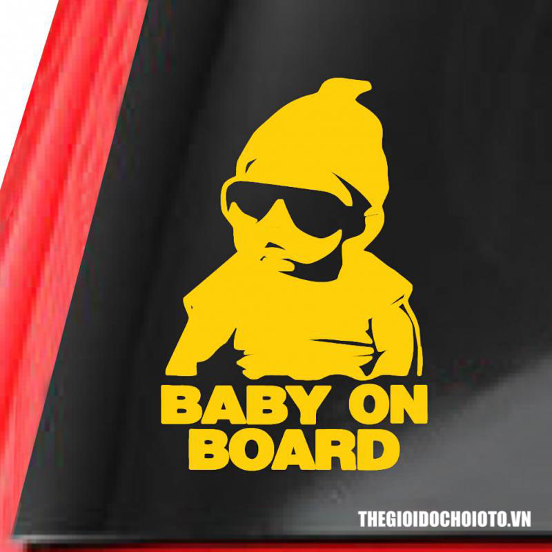 Decal tem baby on board