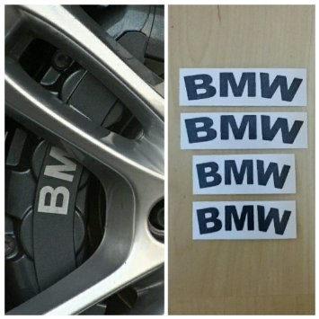 Tem BMW chịu nhiệt dán phanh xe BMW phản quang ms-166