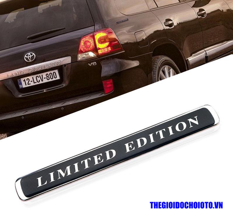 Tem chữ Limited Edition dán xe ô tô