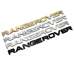 Tem decal bộ chữ Range Rover kim loại dán xe ô tô