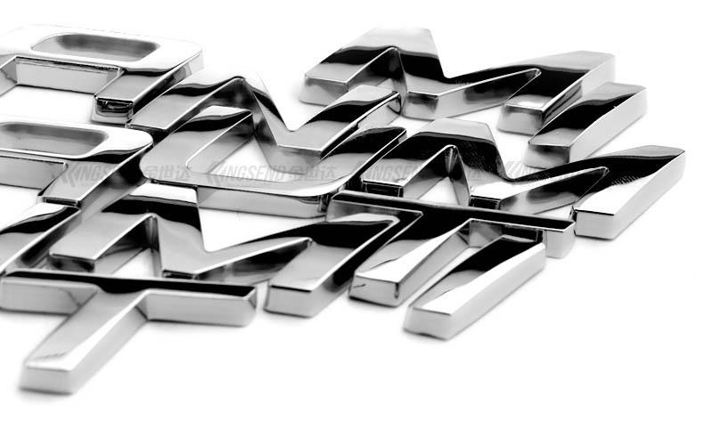 Bộ chữ nổi Titanium kim loại dán trang trí xe ô tô