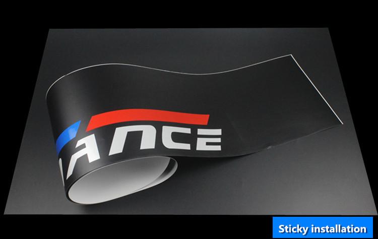 Tem dán kính lái ô tô Performance limited edition