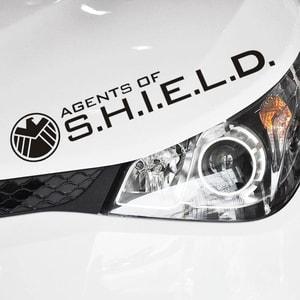 Tem chữ Agents of Shield dán trang trí ô tô ms-153