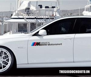 Tem dán sườn xe ô tô BMW Motor Sport MS-20