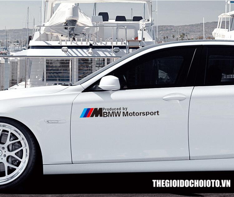 Tem dán sườn xe ô tô  BMW Motor Sport