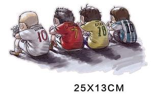 Tem Decal các cầu thủ ngôi sao bóng đá dán xe ô tô MS-121