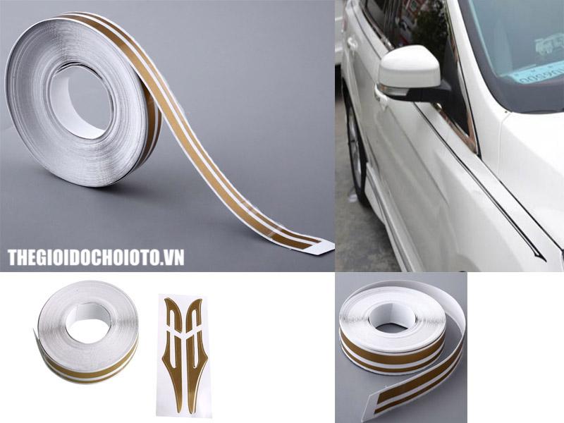 Cuộn decal chỉ viền ngoại thất dán trang trí thân xe ô tô