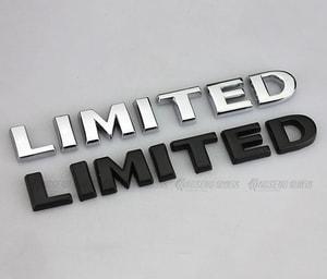 Tem Decal chữ 3d Limited (mẫu 2) MS-28