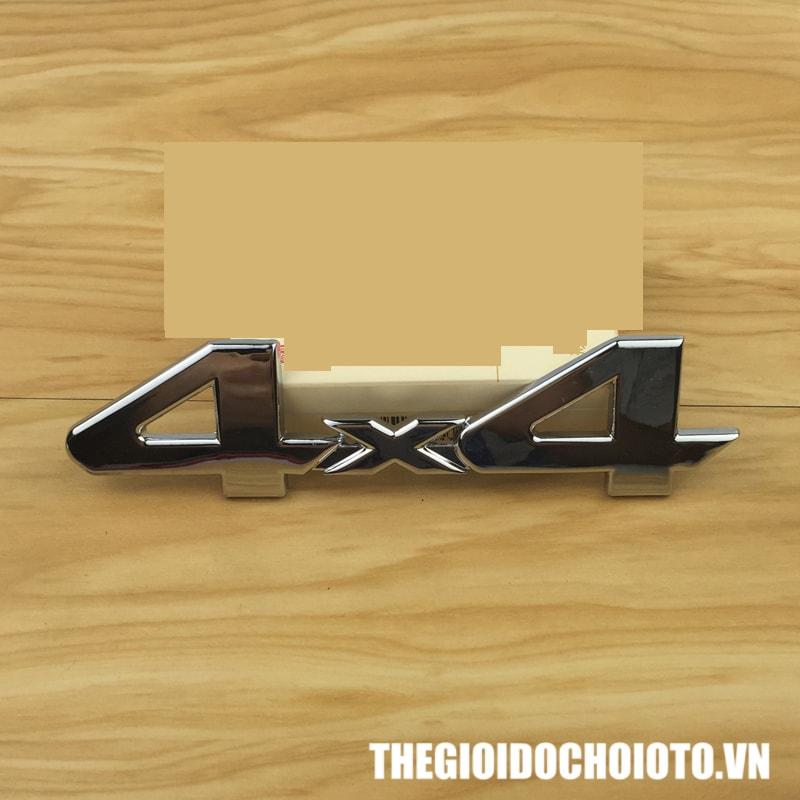 Tem Decal chữ nổi 4x4