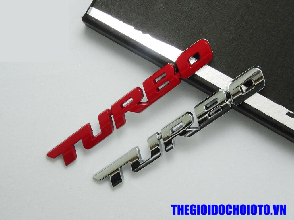 Tem Decal chữ nổi Turbo