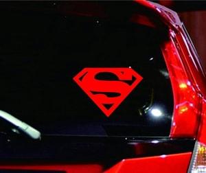 Tem decal chữ S biểu tượng Super Man Siêu nhân dán xe ô tô ms-318